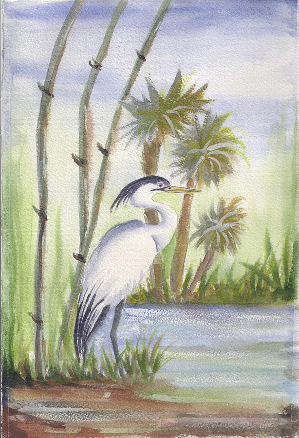 Sanibel Painting - Sanibel Heron by Ruth Bevan