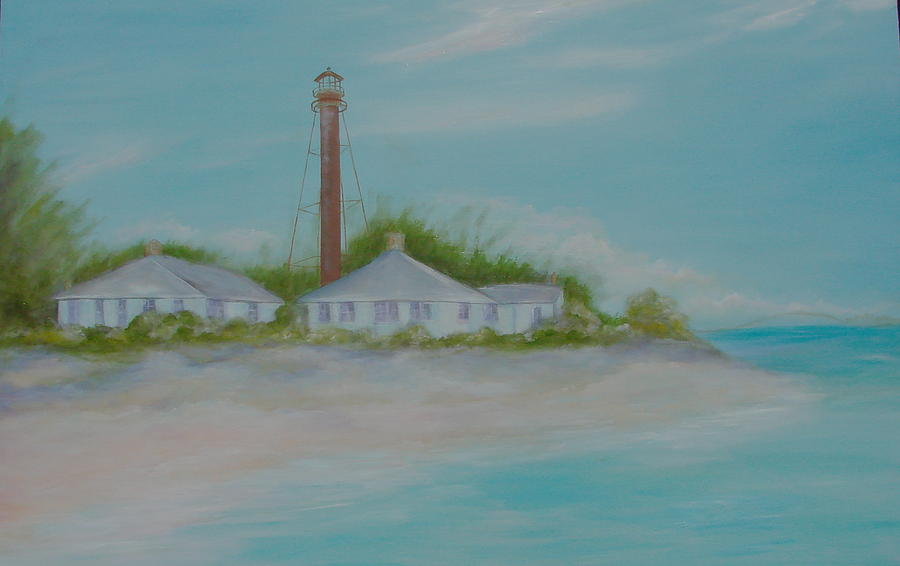 Lighthouse Painting - Sanibel Island Lighthours by Phyllis OShields