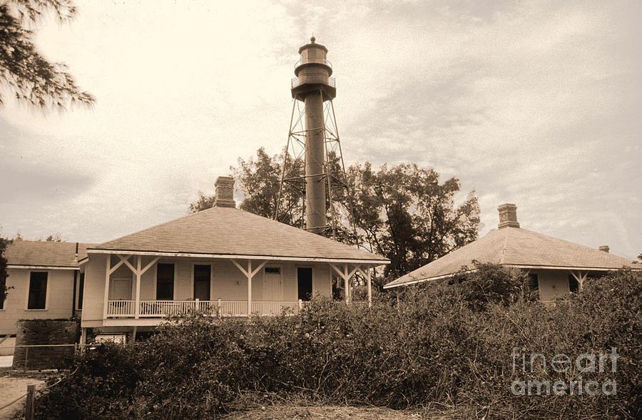 Light House Photograph - Sanibel Light House by Richard Nickson