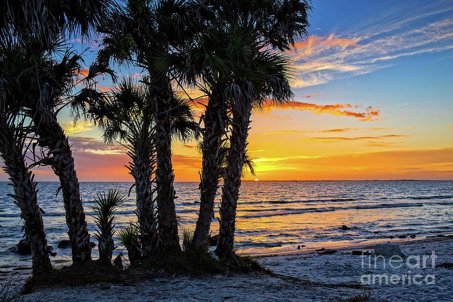 Florida Photograph - Sanibel Sunset by Edward Fielding