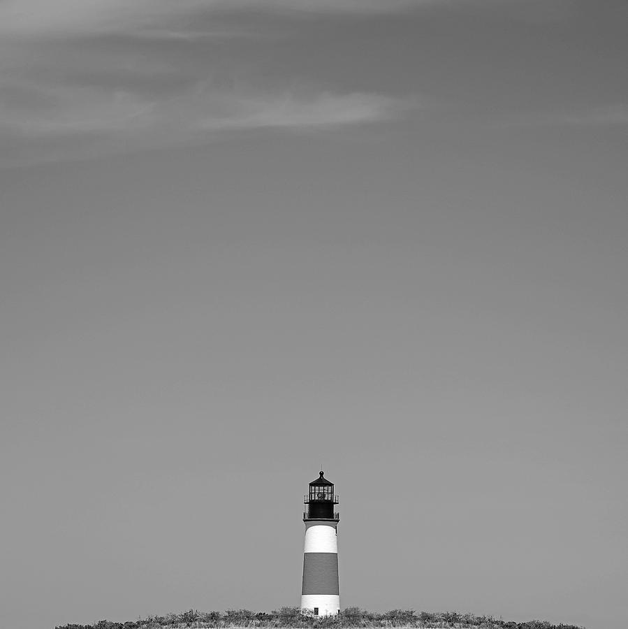 Head Photograph - Sankaty Head Lighthouse Nantucket by Charles Harden