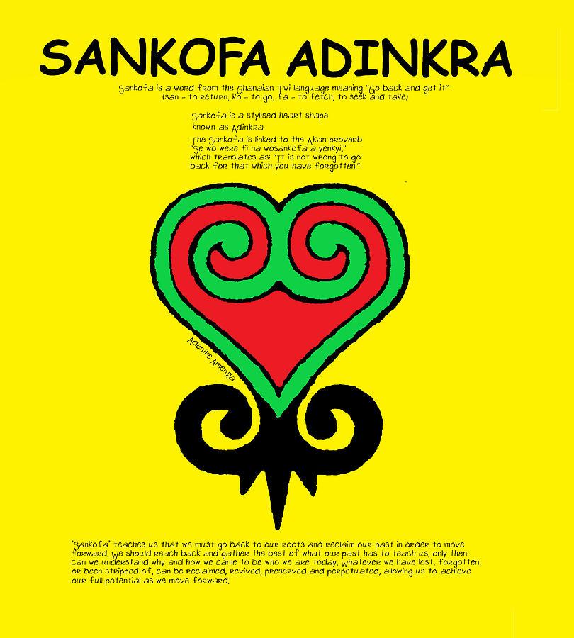 Adinkra Digital Art - Sankofa Adinkra by Adenike AmenRa