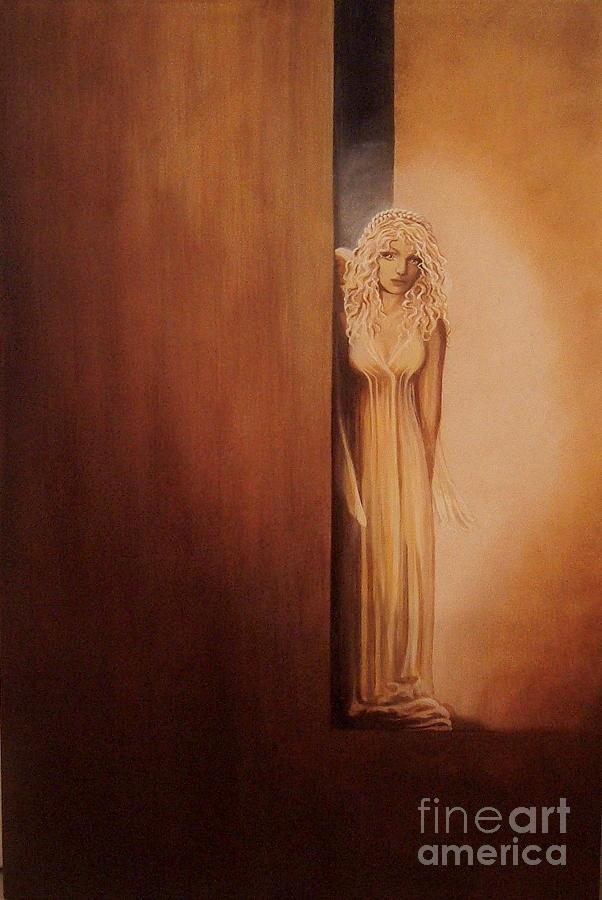 Angel Painting - Sano E Salvo by Pamela Roehm