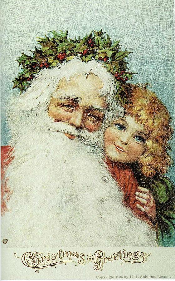 Santa and his Little Admirer by Reynold Jay