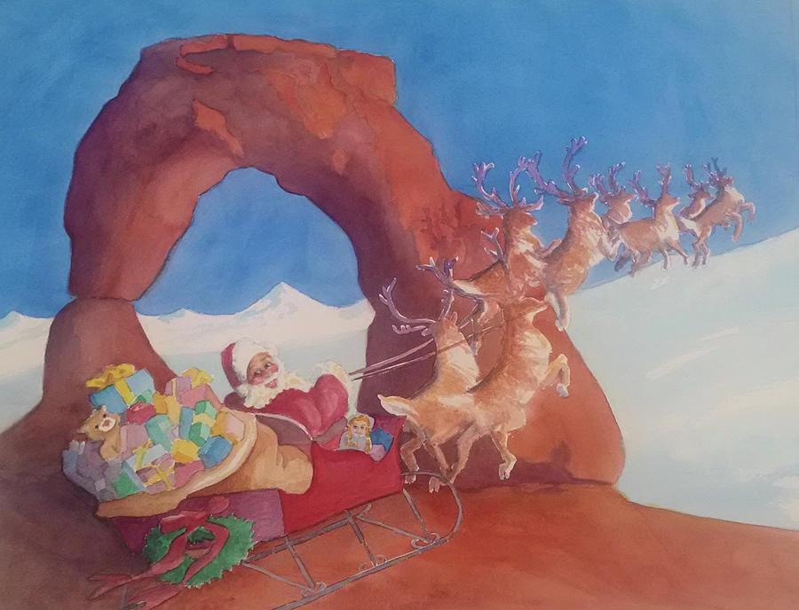 Santa at Arches National Park by George Harth