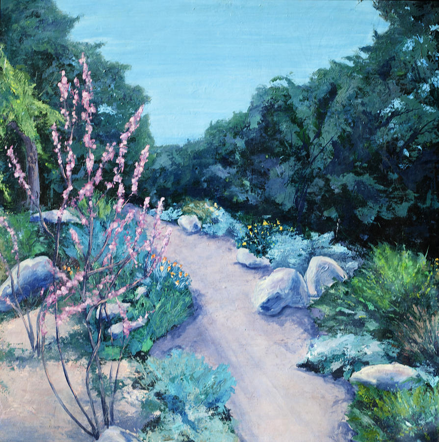 Turquoise Painting - Santa Barbara Botanical Gardens by M Schaefer