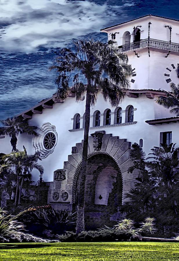 Santa Barbara City Hall Part 2- color by Danuta Bennett