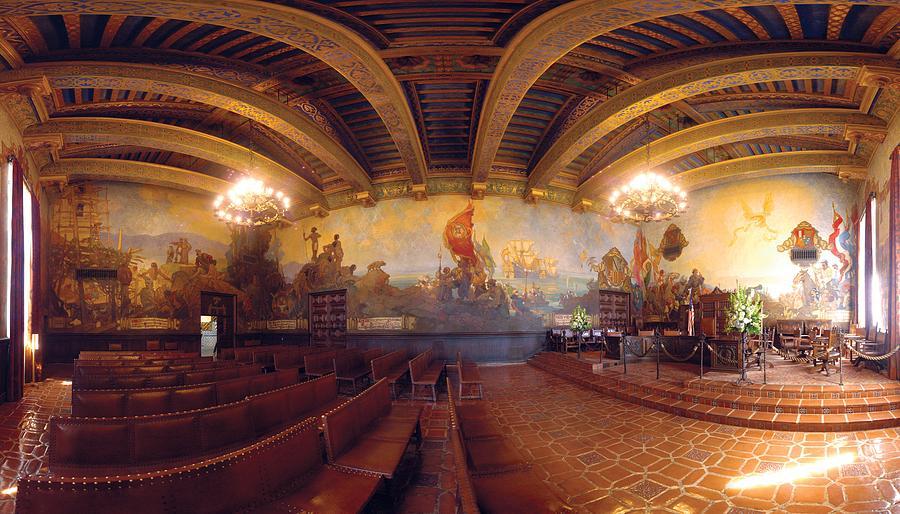 Mural Photograph - Santa Barbara Court House Mural Room Photograph by Brian Lockett