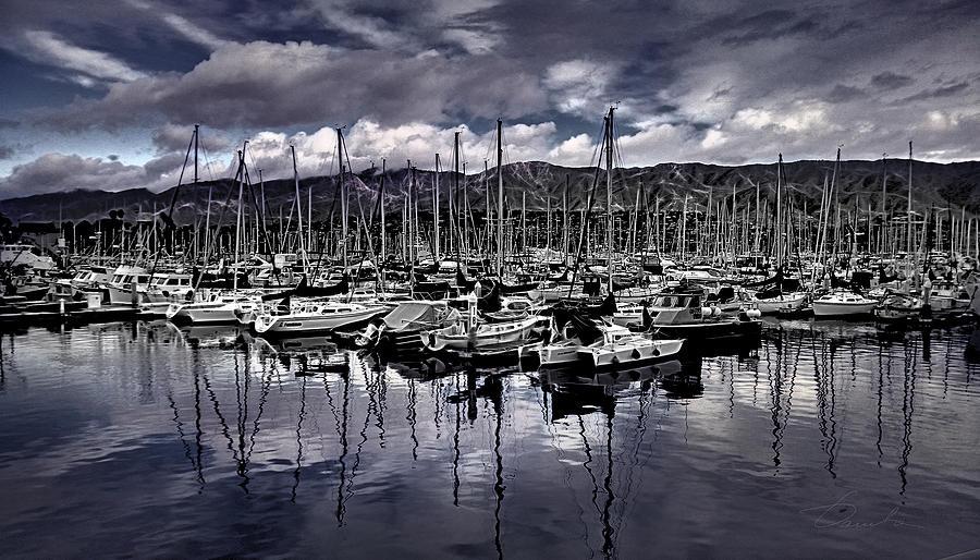 Santa Barbara Harbor by Danuta Bennett