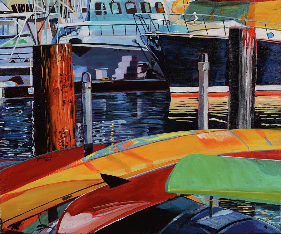 Ships Painting - Santa Barbara Harbor by Pamela Trueblood