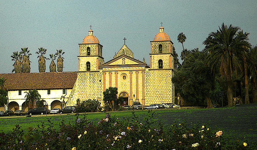 Santa Barbara Mission California by Peter Potter