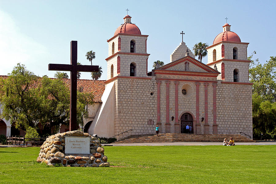 santa barbara mission photograph by linda phelps