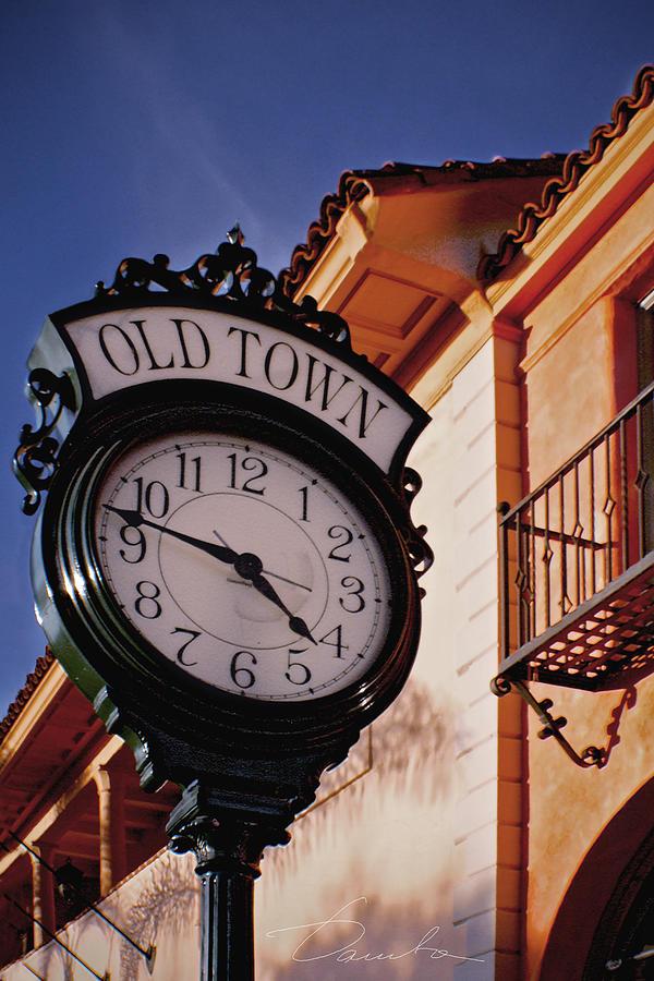 Santa Barbara Old town clock by Danuta Bennett