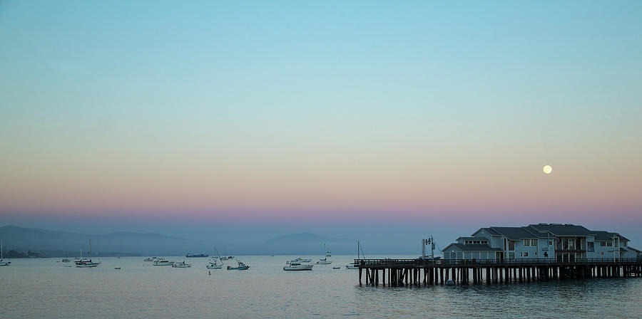 Santa Barbara pier at dusk by Andy Myatt