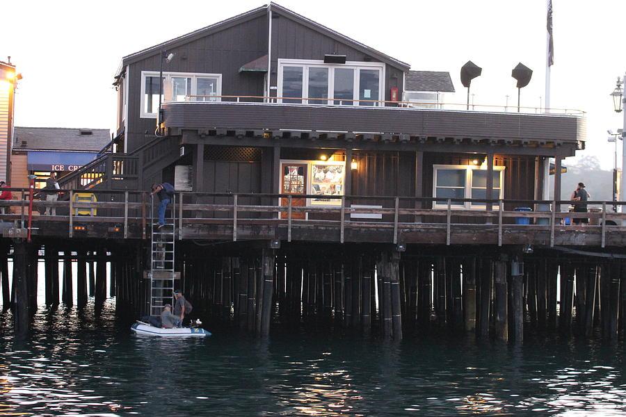 Santa Barbara Pier Photograph - Santa Barbara Pier At Dusk by Gary Canant