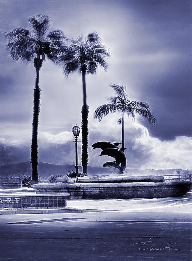 Santa Barbara Pier Dolphins by Danuta Bennett