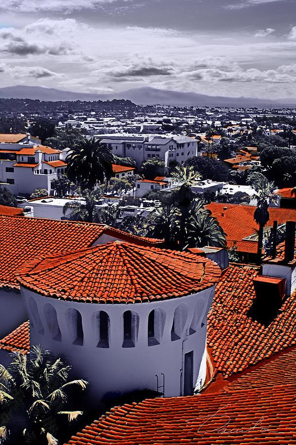 Santa Barbara Red roofs by Danuta Bennett