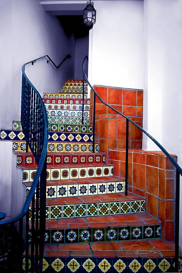 Santa Barbara Stairs by Danuta Bennett