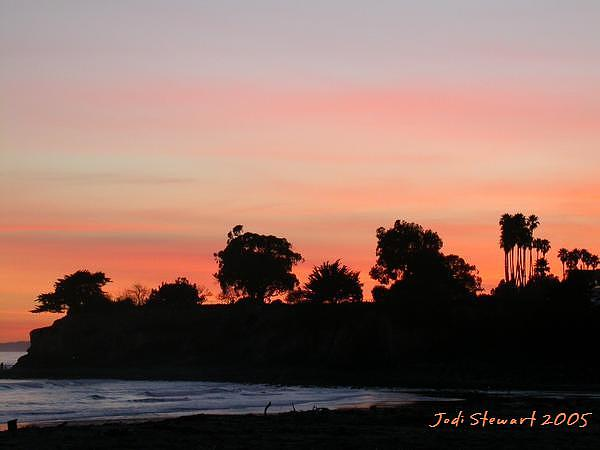 Santa Barbara Photograph - Santa Barbara Sunset by Jodi Stewart