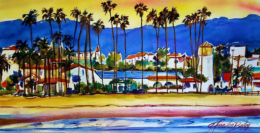 Santa Barbara Painting - Santa Barbara by Therese Fowler-Bailey