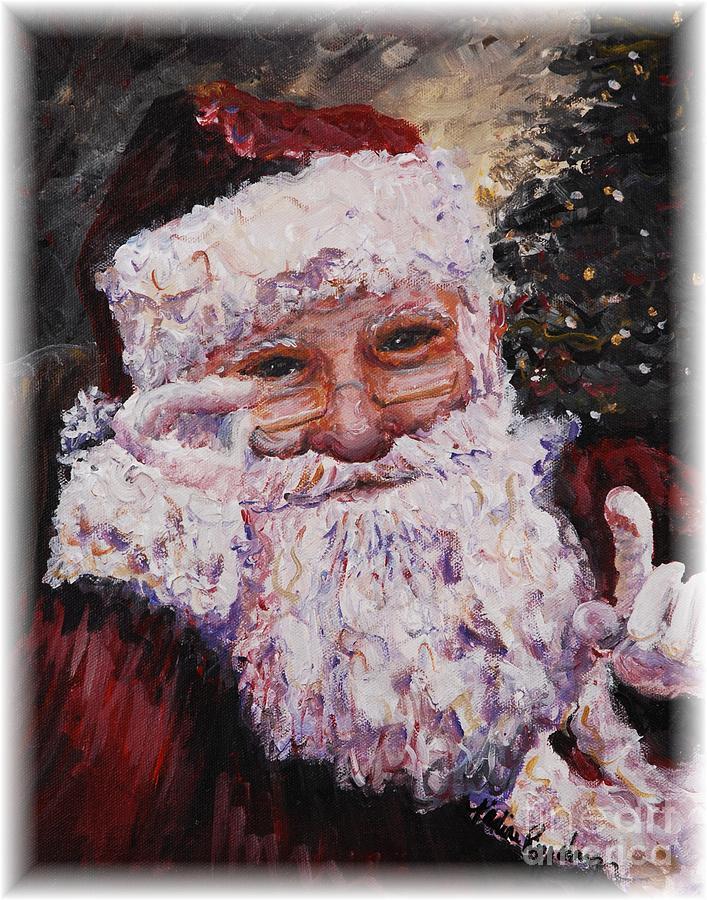 Santa Painting - Santa Chat by Nadine Rippelmeyer