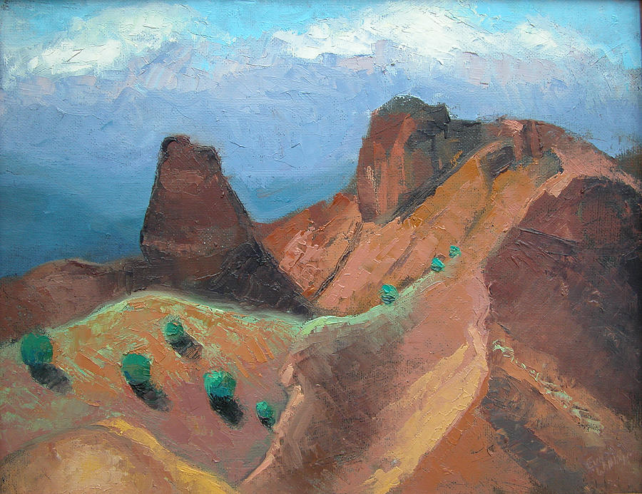 New Mexico Landscapes Painting - Santa Clara Indian Reservation by Eva Wittlinger