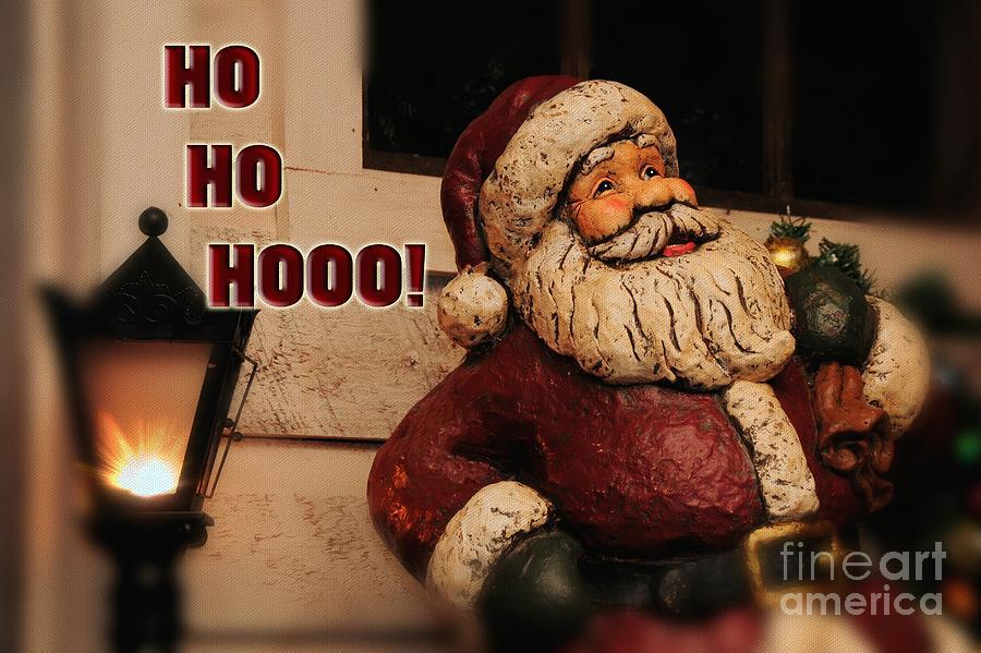 Christmas Photograph - Santa Claus Christmas Card by Lois Bryan