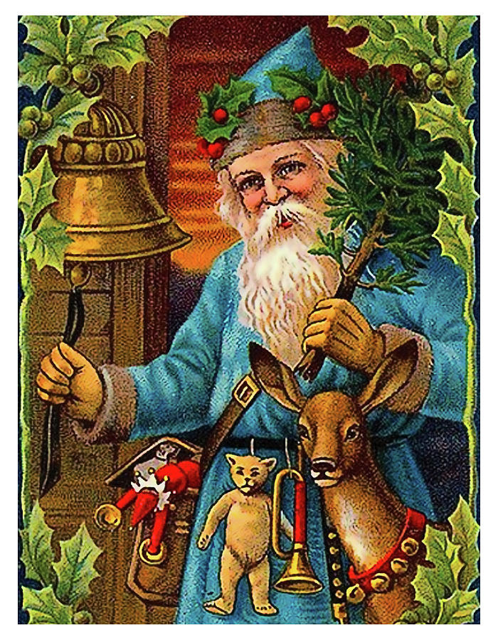 Santa Claus Painting - Santa Claus Ringing A Bell by Long Shot
