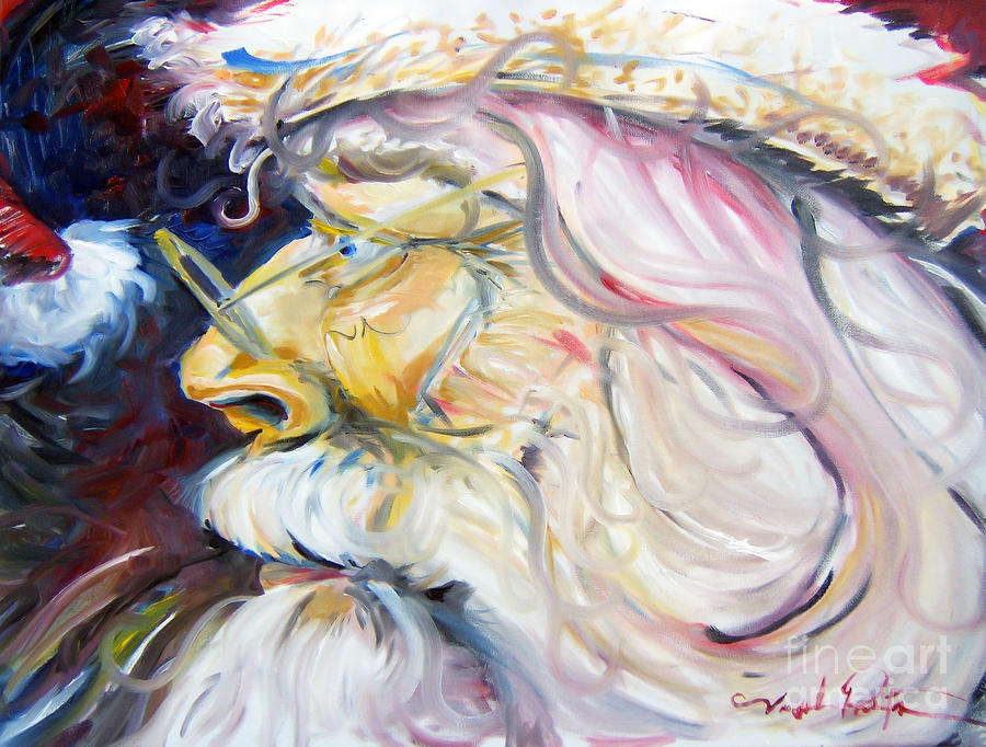 Santa Clause Painting - Santa Clause - Mr. C. by Joseph Palotas