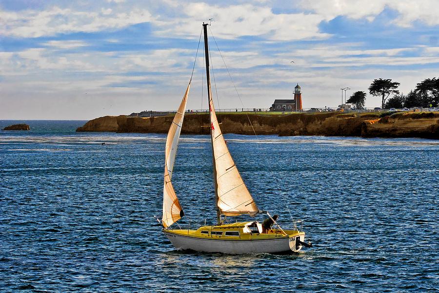 Mark Abbot Memorial Lighthouse Photograph - Santa Cruz Mark Abbott Memorial Lighthouse Ca  by Christine Till