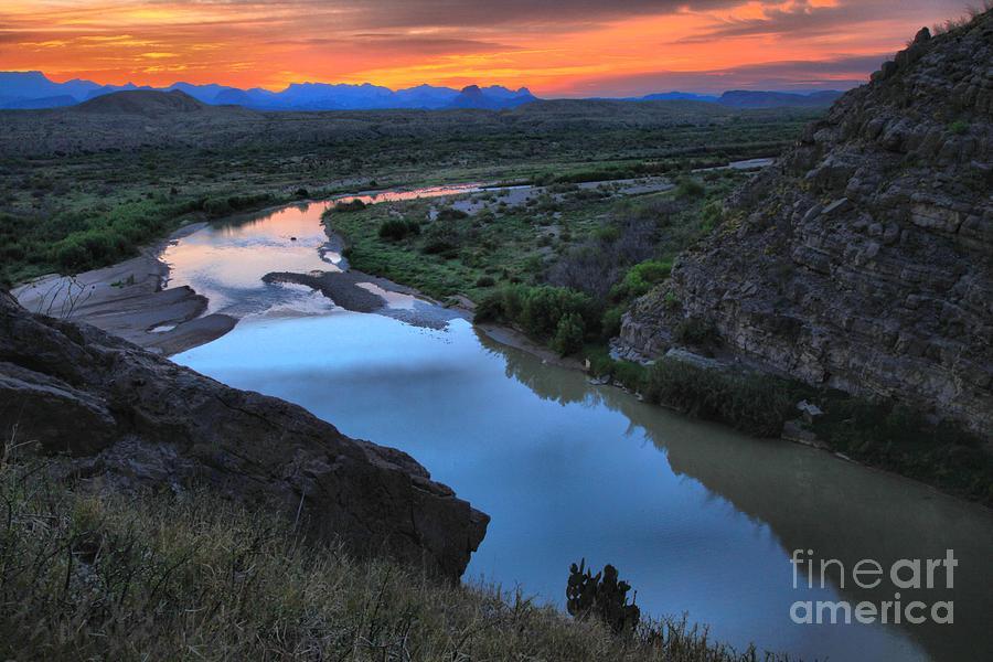 Santa Elena Photograph - Santa Elena Fiery Skies by Adam Jewell