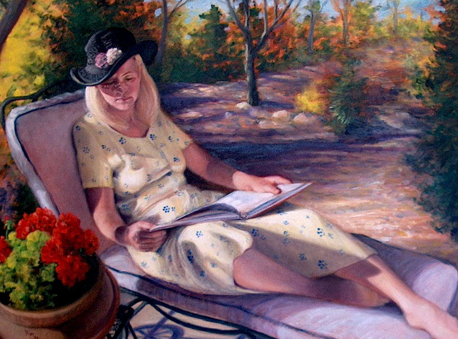Realism Painting - Santa Fe Garden 1 by Donelli  DiMaria
