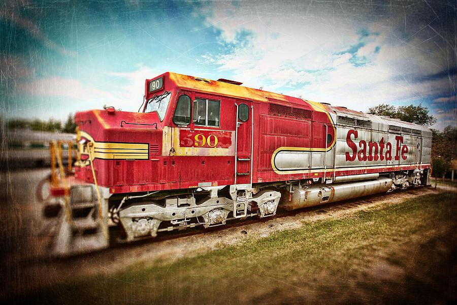 Train Photograph - Santa Fe Locomotive by Charrie Shockey