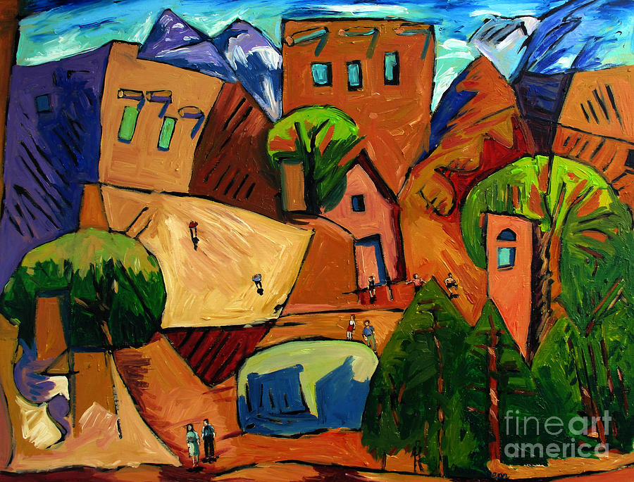 Santa Fe On My Mind Painting by Charlie Spear