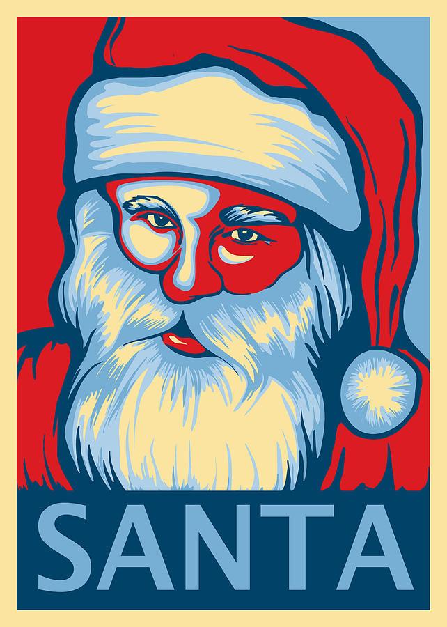Santa Digital Art - Santa Hope by David Kyte