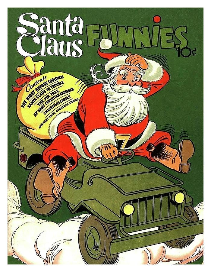 Santa Claus Mixed Media - Santa In A Hurry by Long Shot