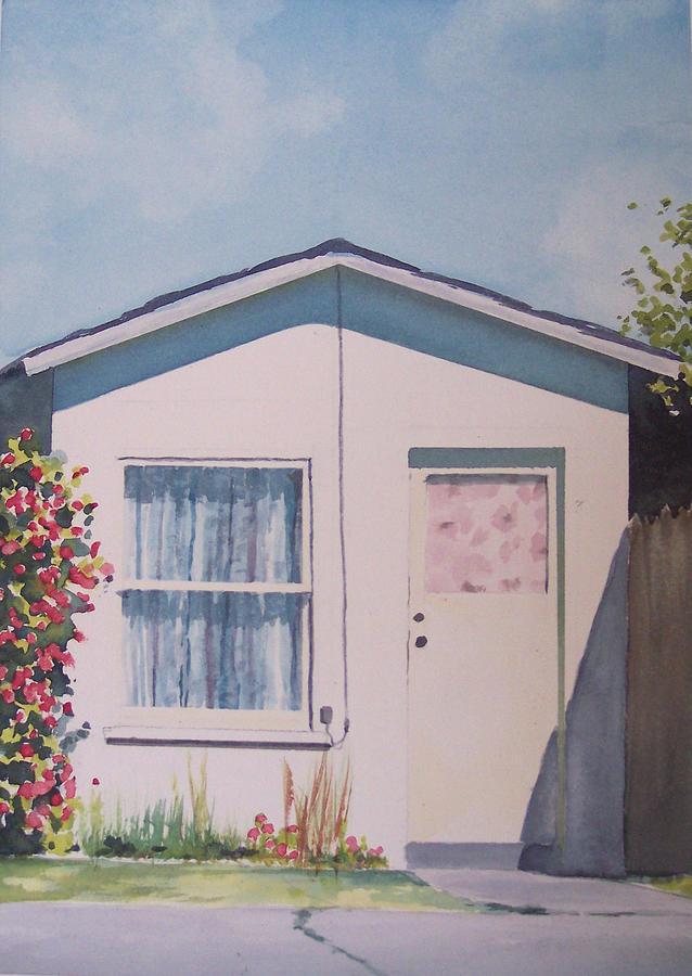 Urban Landscape Painting - Santa Maria cottage by Philip Fleischer