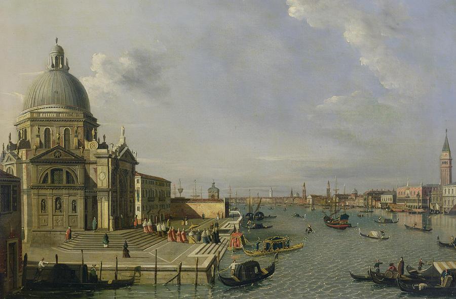 Santa Painting - Santa Maria Della Salute - Venice  by William James