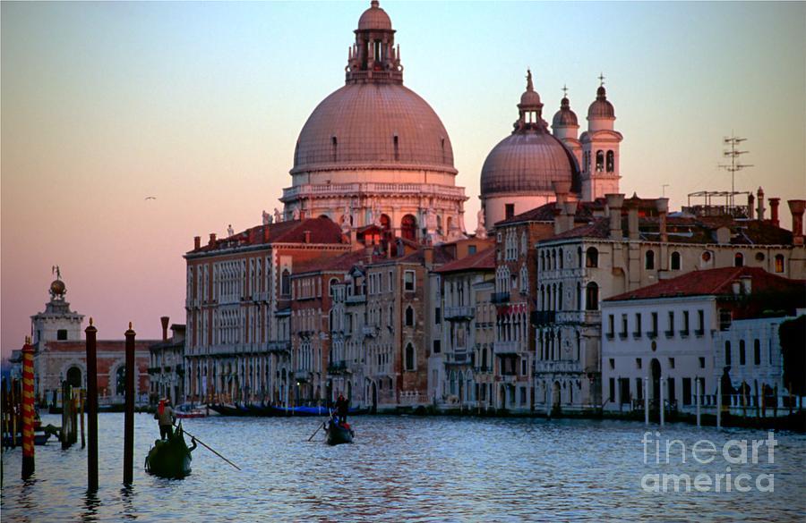Venice Photograph - Santa Maria Della Salute On Grand Canal In Venice In Evening Light by Michael Henderson