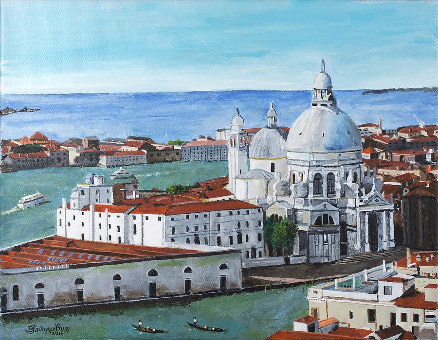 Venice Italy Painting - Santa Maria Della Salute, Venice by Bruce Schmalfuss