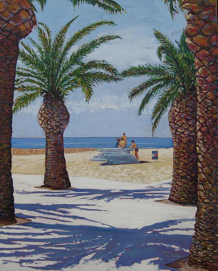 Beach Painting - Santa Monica Beach  by Karen Doyle
