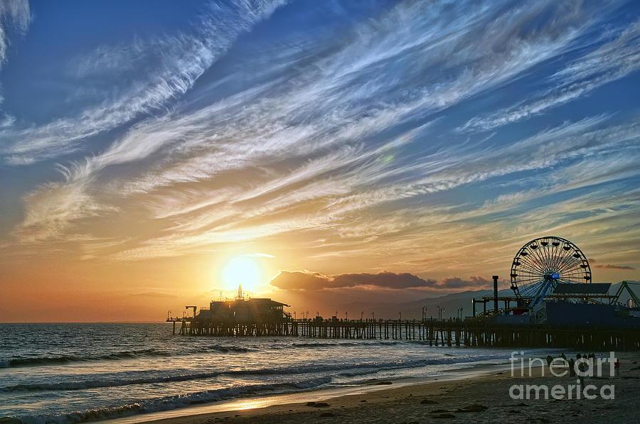 Santa Monica Pier Photograph - Santa Monica Pier by Eddie Yerkish