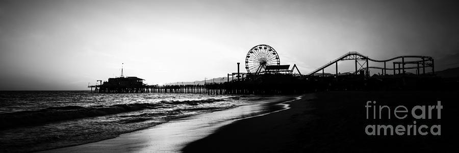 Santa Monica Pier Panorama Photo Photograph