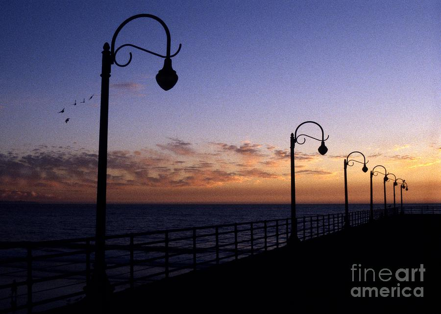 Santa Monica Pier Sunset Photograph by Chris Jurgenson