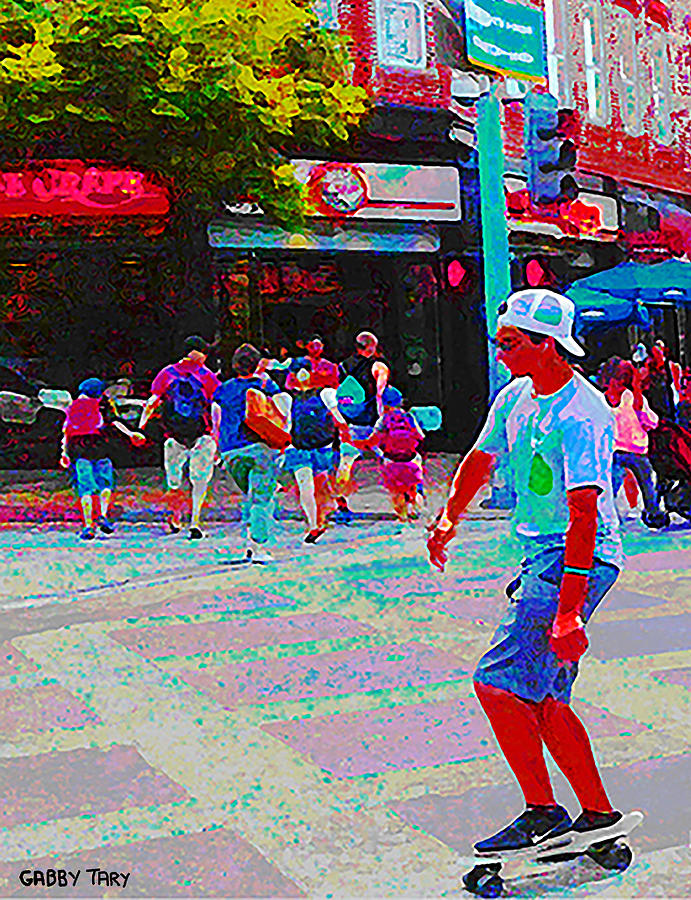 Santa Monica Promenade Digital Art by Gabby Tary