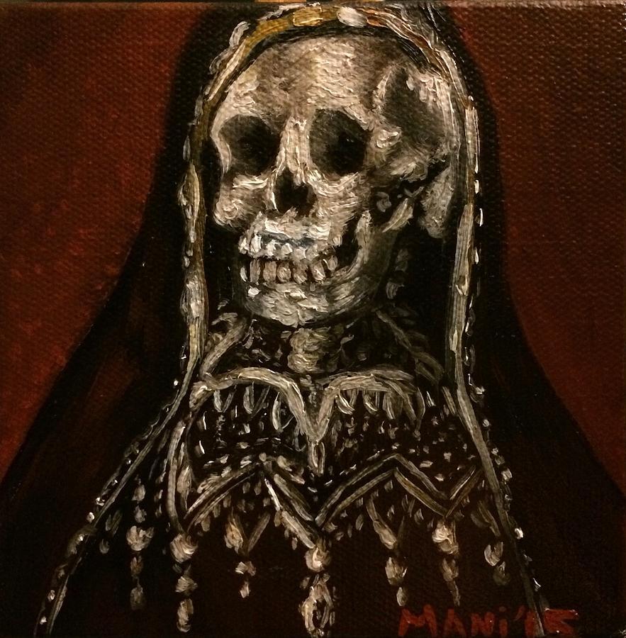 Santa Muerte Holy Death Painting by Mani Price
