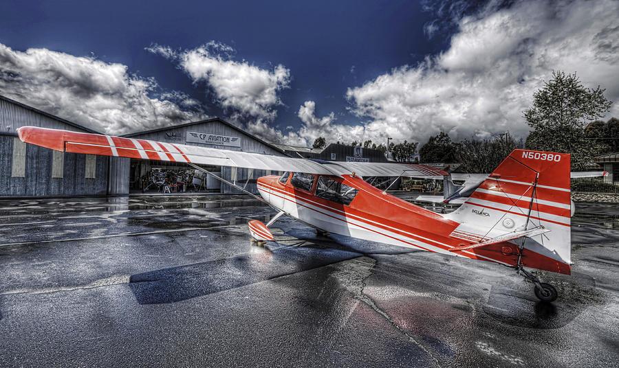 Hdr Photograph - Santa Paula Airport by Lachlan Kay