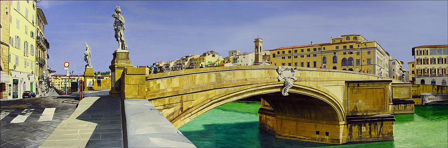 Cityscape Painting - Santa Trinita Revisited by Matthew Bates
