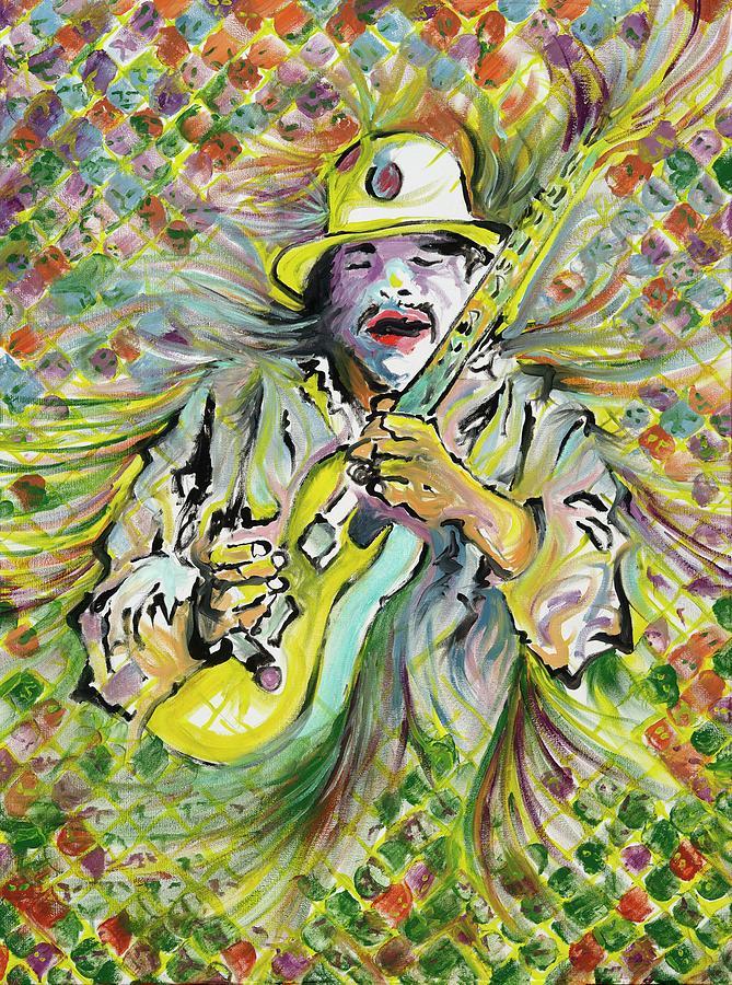 Santana Painting - Santanas Sacred Fire by Doug Johnson