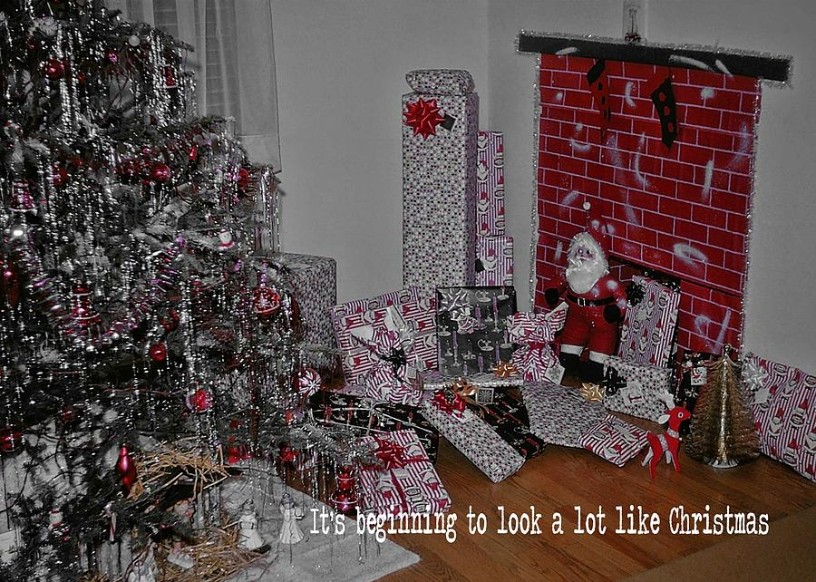 Santa Photograph - Santas Almost Here Quote by JAMART Photography